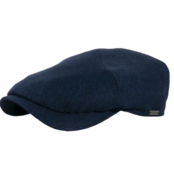 Newsboy Slim Cap Linen Navy