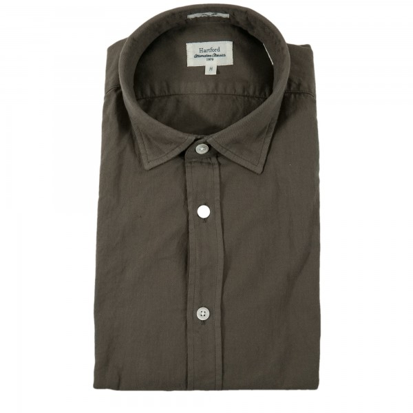 Hartford Shirt Sammy Pat Brown-grey