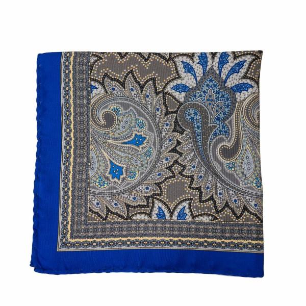 Einstecktuch Paisley Blau