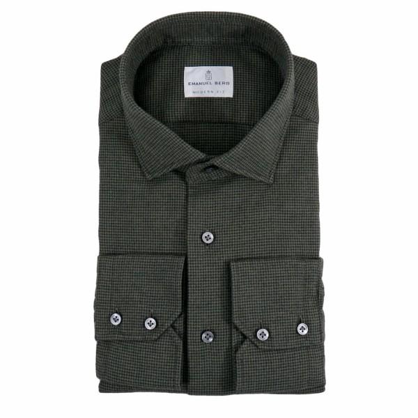 Emanuel Berg flannel shirt Modern Fit