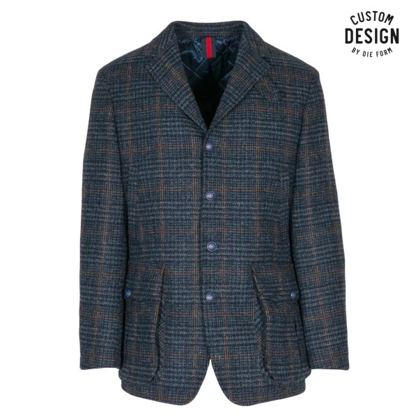 1973 Checked Wool Coat