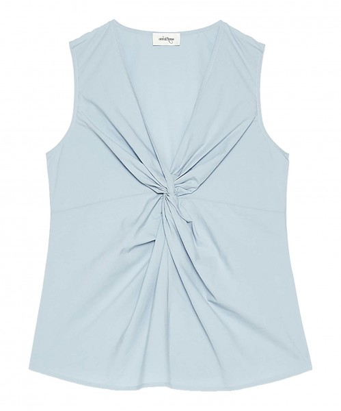 Ottod`Ame Top with Knotdetail Lightblue