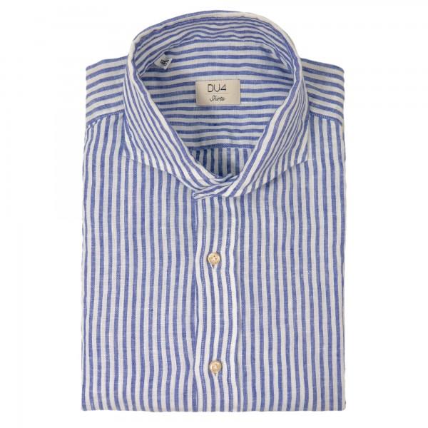 DU4 Leinenhemd mit Streifen