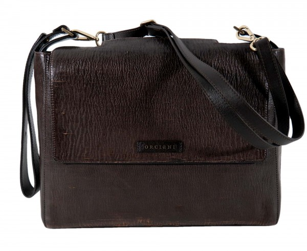 Orciani Ledertasche Cutting Braun
