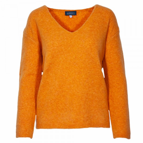 Seldom Damen Strickpullover Orange