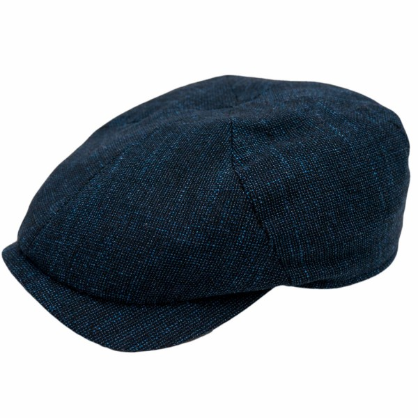 Wigens Newsboy Slim Cap Blue