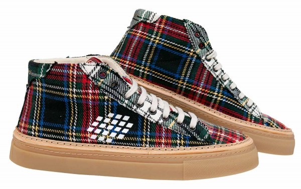 BePositive sneakers with checked pattern