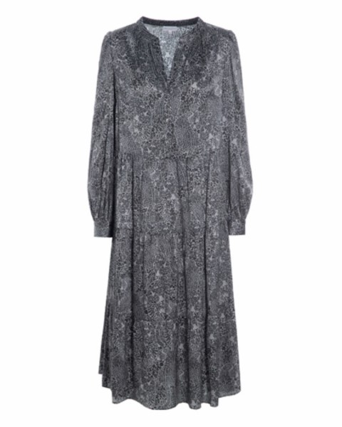 Dea Kudibal Silkdress Cathrin Jungle Grey