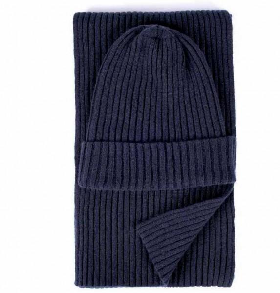 Stoltenberg knitted scarf cashmere navy