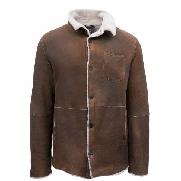 GMS-75 Washed Leather Jacket