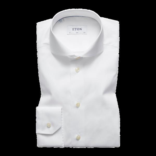 Eton Slim Weißes Popeline Hemd