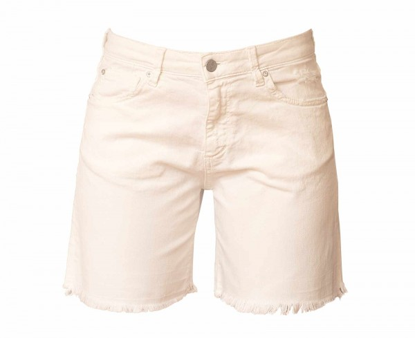 The Nim Jeans Shorts White