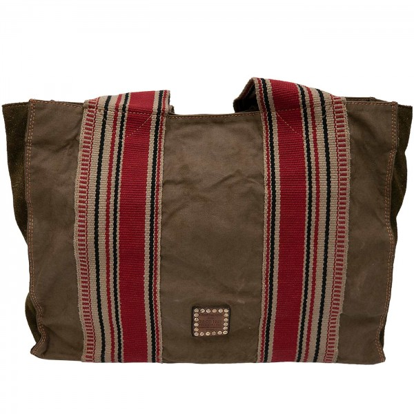 Campomaggi Shopper Leather-Canvas