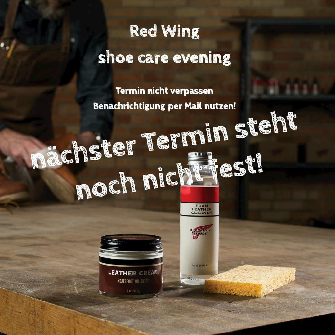 red wing shoe care evenning