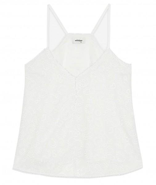 Ottod'Ame Top Bestickt Weiß