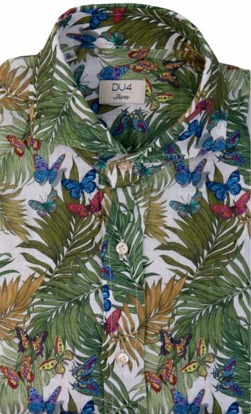 DU4 Leinen Hemd Butterfly