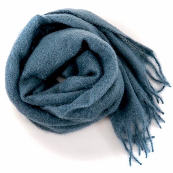 Altea woolen scarf blue grey