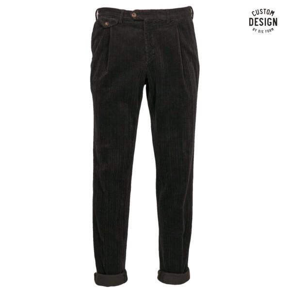 Borelio Pleated Corduroy Trousers
