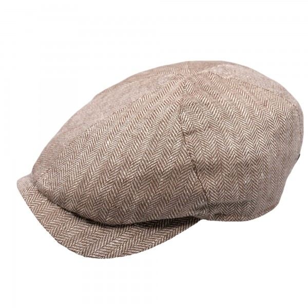Wigens Newsboy Slim Cap Brown
