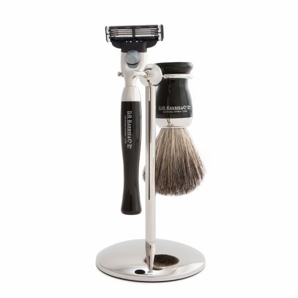 D. R. Harris Ebony Shaving Starter Kit