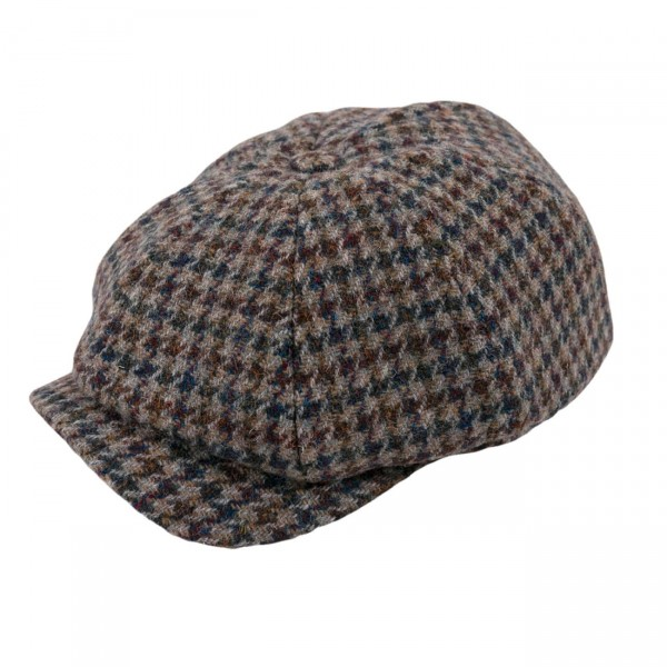 Wigens Newsboy Classic Cap Harris Tweed
