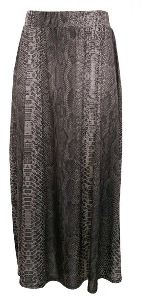 Marivie Midi-Skirt Python Darkgrey