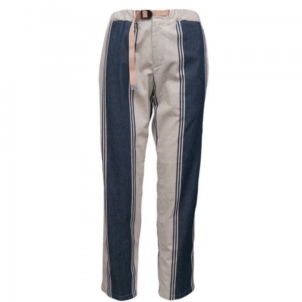 White Sand Trousers Striped
