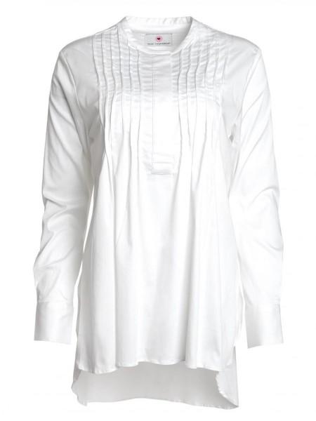 Herzensangelegenheit long blouse super white
