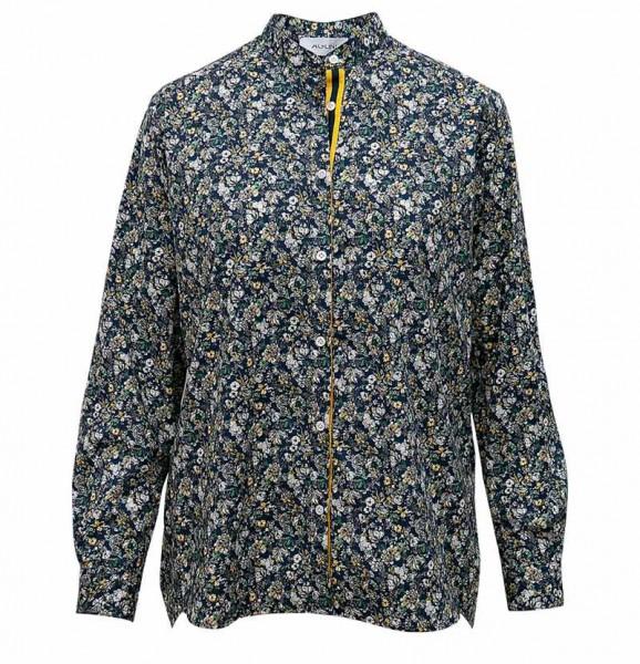 Aglini cotton blouse Liana blue