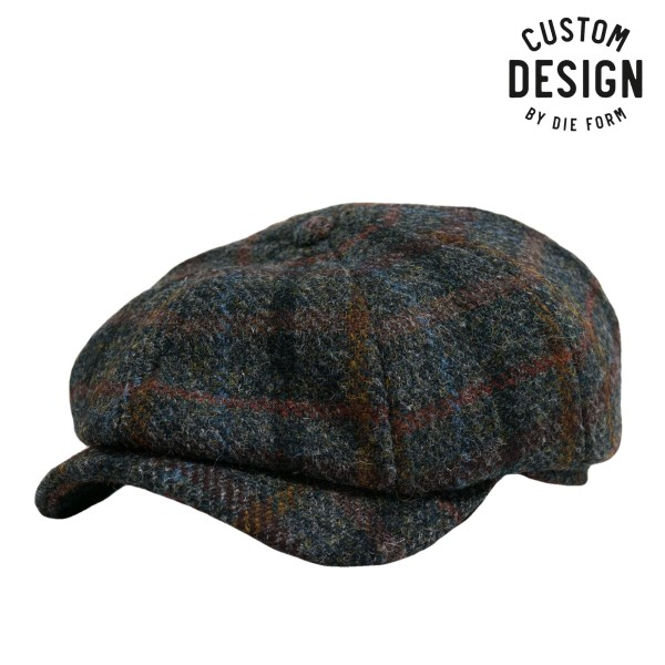 Wigens Newsboy Classic Harris Tweed Cap Karo