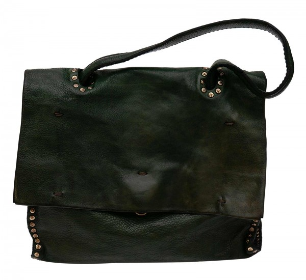 Campomaggi leather bag green