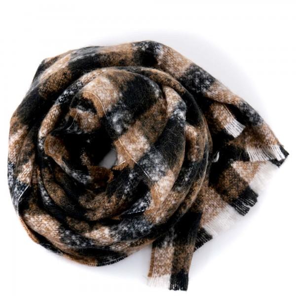 Altea wool scarf brown plaid