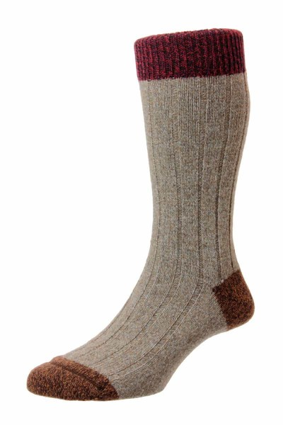 Scott Nichol Tweed Socken Burghley