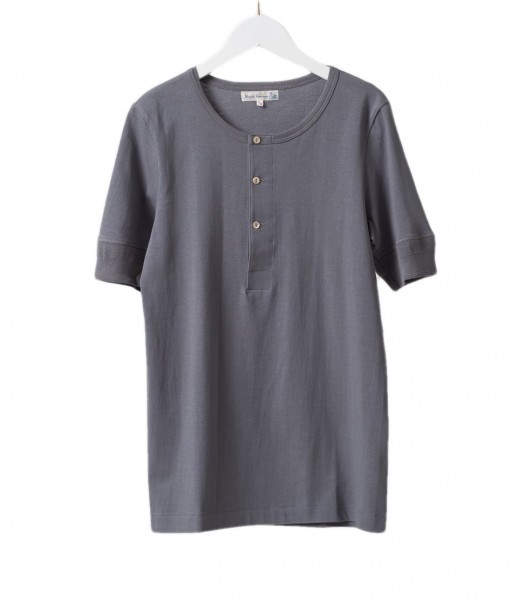 Merz b. Schwanen 1/4 Henley Shirt Black