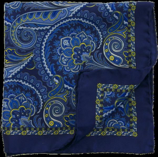 Einstecktuch Paisley marineblau