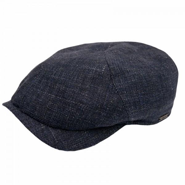 Wigens Newsboy Slim Cap Navy