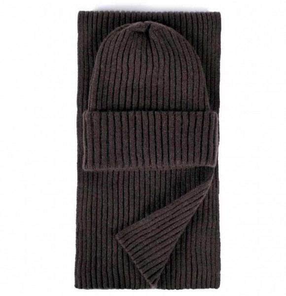 Stoltenberg knitted scarf cashmere brown