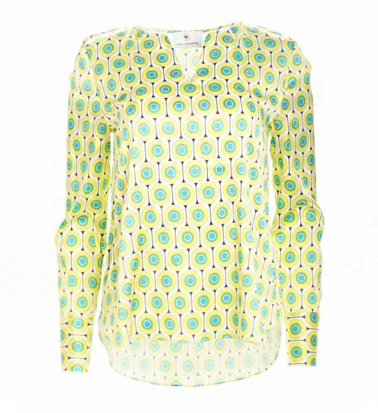 Herzensangelegenheit Silkblouse Retro Green