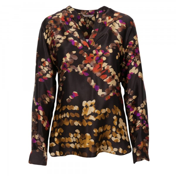 Caliban Bluse mit Flower-Muster