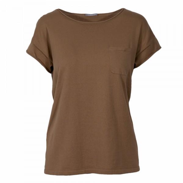 HEMISPHERE Linen short sleeve shirt camel