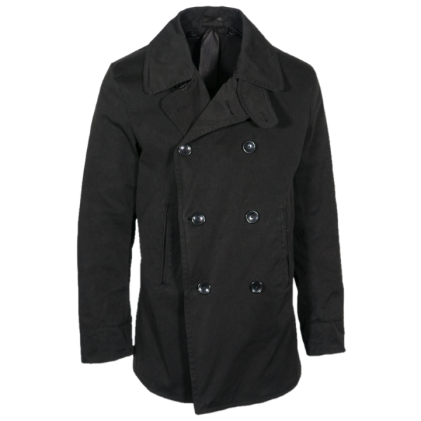 Ten C Pea Coat schwarz