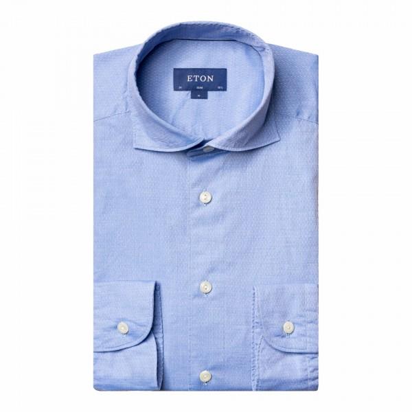 Eton Slim Dobby-shirt with dots