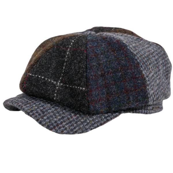 Wigens Newsboy Classic Cap Harris Tweed Checked