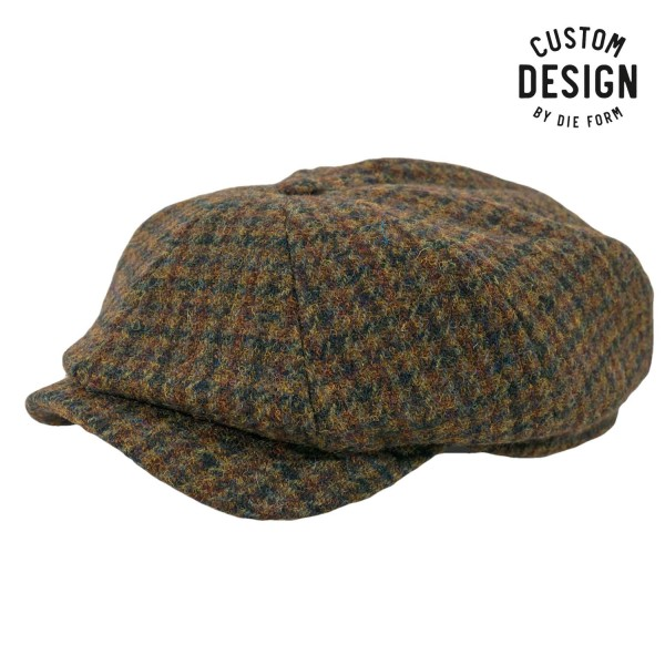 Wigens Newsboy Cap Magee Tweed Checked