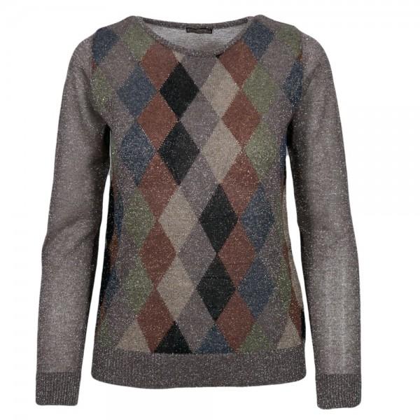 Maliparmi Knitted Sweater Argyle Pattern