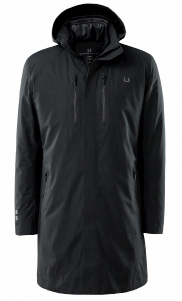 UBR Black Storm Coat Delta 7054