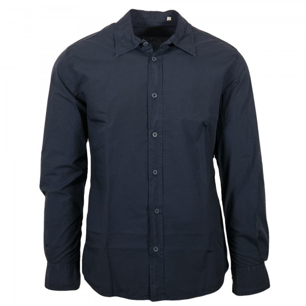 Original Vintage Style Hemd Glenn Blau