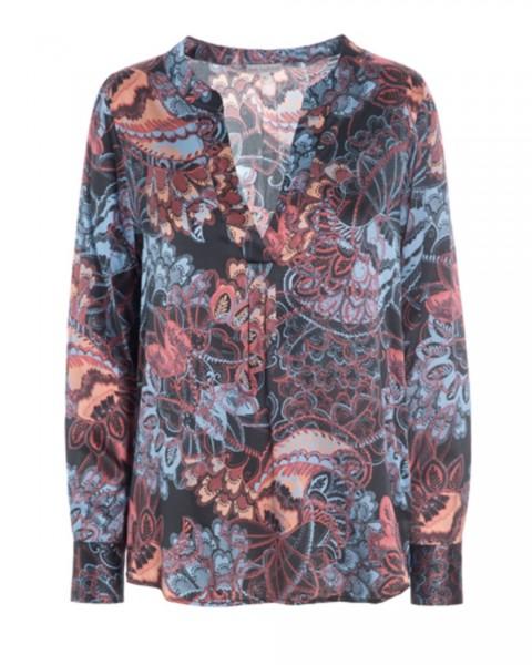 Dea Kudibal silk blouse Santena Oriental Black