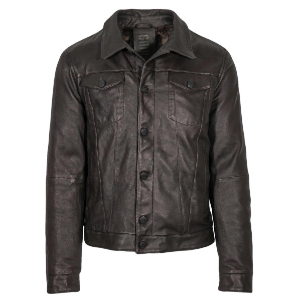 GMS-75 Trucker Leather Jacket