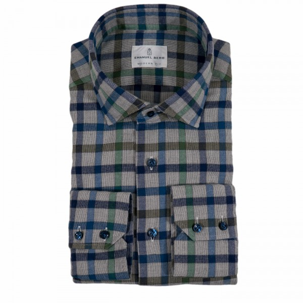 Emanuel Berg flannel shirt Modern Fit